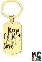 Sleutelhanger RVS - Keep Calm And Love