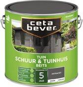 Cetabever Tuin Schuur & Tuinhuis Beits - Dekkend - Antraciet - 2,5 liter