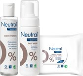 Neutral 0% Face Make-up Remover Wipes + Tonic  + Wash Lotion - Combinatie pack