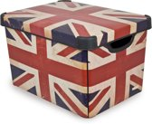 Curver Decobox Stockholm Opbergbox - 25 l - Kunststof - Union Jack