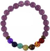 Fako Bijoux® - Buddha Armband - Chakra Reiki - Ring - Paars