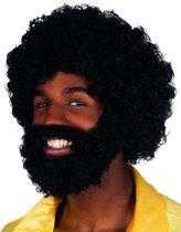 """""""Pruik met baard voor volwassenen - Verkleedpruik - One size"""""""