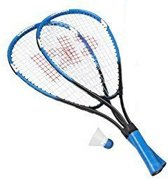 Donnay Badmintonset Fast Aluminium Blauw Per Set