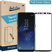 Just in Case Full Cover Tempered Glass Samsung Galaxy S8 Protector - Black