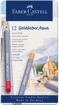 Aquarelkleurpotlood Faber-Castell Goldfaber Aqua etui 12 stuks