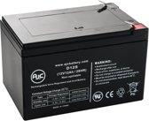 AJC® battery compatibel met Union MX-12120 12V 12Ah UPS Noodstroomvoeding accu
