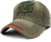 Baseball Cap - FLB - Army Green Washed Vintage - C022