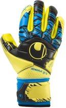 Uhlsport Speed Up Absolutgrip Fingersurround  Keepershandschoenen - Unisex - geel/zwart/blauw Maat 8 1/2