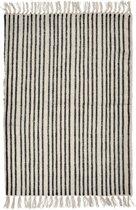 Nordal Vloerkleed Stripes Zwart/Wit Steep 170x110cm