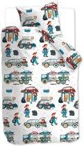 Beddinghouse Kids Car Tools - Dekbedovertrek - Junior - 120x150 cm + 1 kussensloop 60x70 cm - Multi kleur