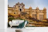 Fotobehang vinyl - Vooraanzicht van het Fort Amber in India breedte 540 cm x hoogte 360 cm - Foto print op behang (in 7 formaten beschikbaar)