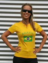 Geel Brazilie shirt dames S