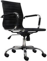 Chelsea - Bureaustoel Bureaustoel Business chroom zwart met lage rugleuning