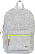 Herschel Supply Co. Settlement Mid-Volume Rugzak - Light Grey Crosshatch / Acid Lime Zip