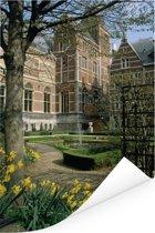 De tuinen van het beroemde Rijksmuseum in Amsterdam Poster 80x120 cm - Foto print op Poster (wanddecoratie woonkamer / slaapkamer)