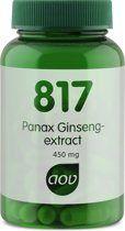 Aov Panax Ginseng Extract 817 - 60 capsules - Voedingssupplement