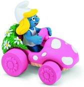 Smurfin In Roze Auto