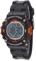 Marea B40190/2 digitaal horloge 40 mm 100 meter zwart/ oranje