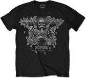 Guns N' Roses - Skeleton Guns heren unisex T-shirt zwart - XL