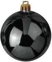 Europalms Kerstbal 10cm, black 4x