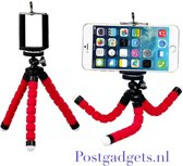 gratis verzenden /ROOD / Flexible Octopus Bubble Tripod houder Stand Mount voor mobiele telefoon (Iphone 6s / 7 Samsung S8 / S7 / S6 ) / Digital Camera Action Camera