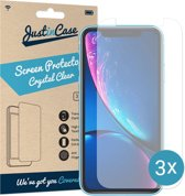 Just in Case Screen Protector Apple iPhone Xr - Crystal Clear - 3 stuks