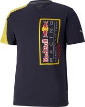 PUMA Red Bull Racing Logo Tee+ Heren Sportshirt - NIGHT SKY - Maat S