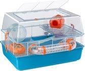 Ferplast Duna Fun Hamsterkooi - Blauw/Oranje - 55 x 47 x 30 cm