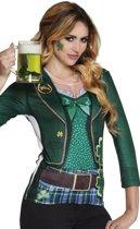 3 stuks: Fotorealistisch shirt - Ierse vrouw - Small