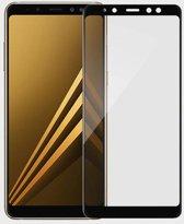 Samsung Galaxy A8 2018 - Full Cover Screenprotector - Zwart
