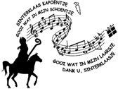 Raam / muur sticker Sinterklaas kapoentje   Rosami Decoratie