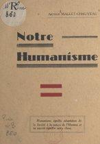Notre humanisme