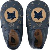 Bobux babyslofjes navy fox loafer print - maat 22