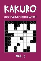 Kakuro 200 Puzzle With Solution Vol 3