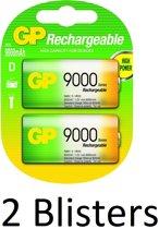 4 Stuks (2 Blisters a 2 st) GP Batteries D Rechargeable battery Nikkel-Metaalhydride (NiMH)
