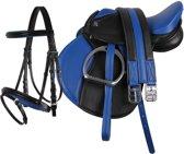 Complete zadelset pony blauw