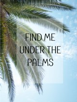 Under the palms Poster - 30x40cm – WALLLL