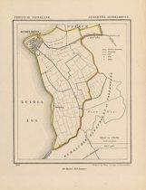 Historische kaart, plattegrond van gemeente Hindeloopen in Friesland uit 1867 door Kuyper van Kaartcadeau.com