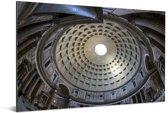 Plafond van de binnenkant van het Pantheon in Rome Aluminium 30x20 cm - klein - Foto print op Aluminium (metaal wanddecoratie)