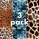 3 pack - Damessokken - Katoen - geprinte sok