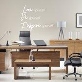 Muursticker Love Be Inspire -  Wit -  100 x 78 cm  - Muursticker4Sale
