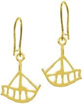 Oorbellen, hang, Kleine gouden boot