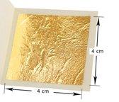 Eetbaar goud folie - 10 stuks van 4x4 cm