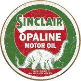 Signs-USA Sinclair Opaline Round - Retro Wandbord - Metaal - 30 cm rond