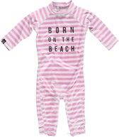 Beach & Bandits UV pakje Baby Beach Girl - Wit/Roze - Maat 68/74