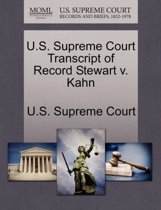 U.S. Supreme Court Transcript of Record Stewart V. Kahn