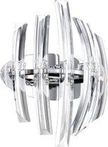 EGLO Drifter Wandlamp - 2 Lichts - Chroom - Helder