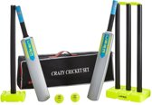 Uber Cricket set, Robuust in mooie tas, maat Junior