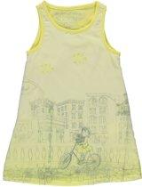 Losan Jurk  Lichtgeel jurkje met voile bovenkant - Maat 92