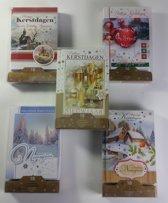 Luxe kerstkaarten en nieuwjaarskaarten met envelop - 50 stuks - Serie J